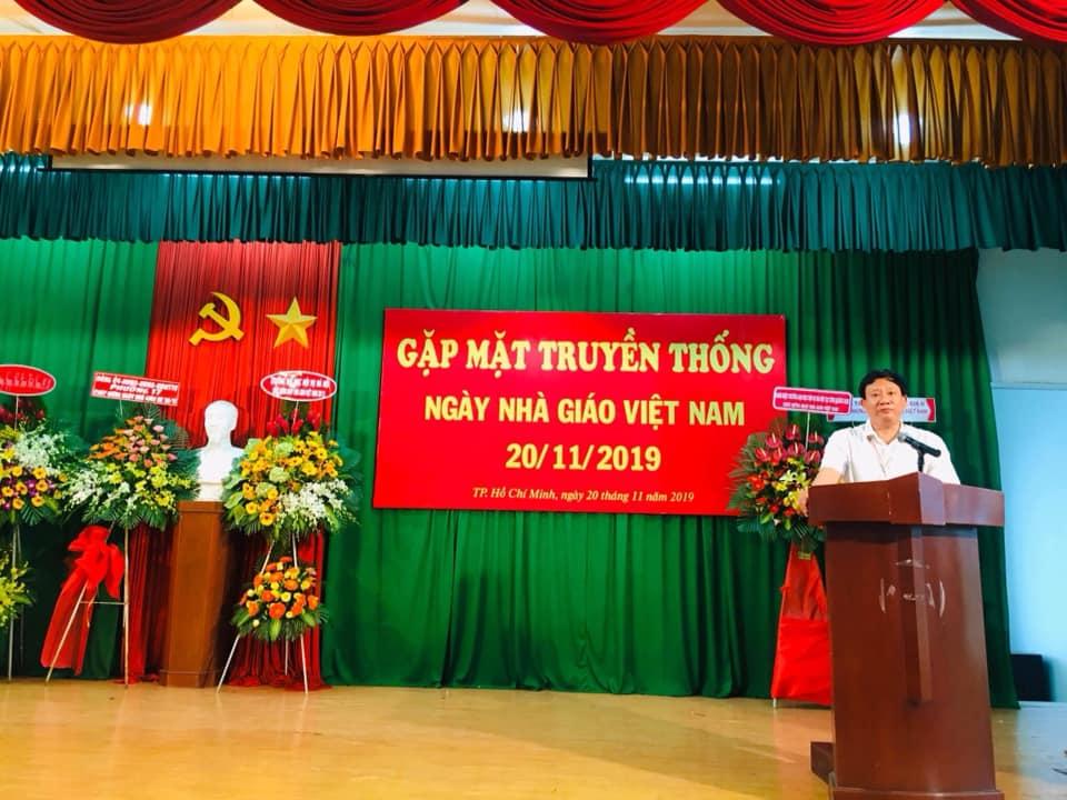 TS. Trương Cộng Hòa - Giám đốc Phân hiệu phát biểu tại buổi gặp mặt