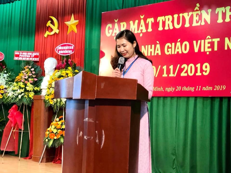ThS. Lâm Thu Việt - Đại diện giảng viên phát biểu